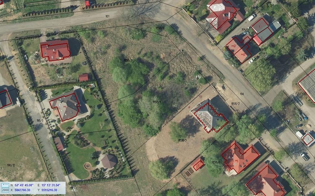 Działka o powierzchni 1 804 m kw. położona na terenie objętym planem zagospodarowania przestrzennego. ...