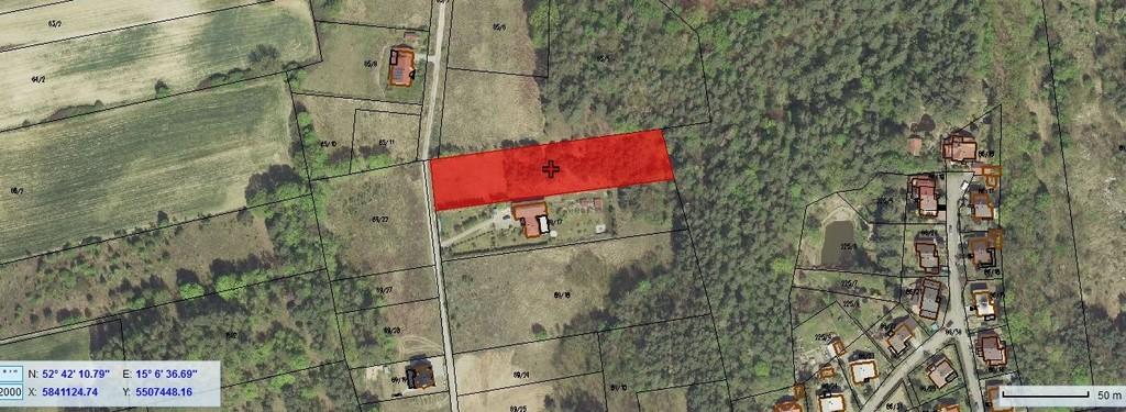 Przedmiotem sprzedaży  jest duża działka o pow. 4 100 m2 położona w m. Jenin, gm. Bogdaniec przy ul. Zielona ...