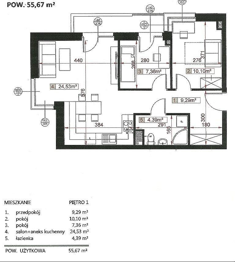 Na sprzedaż NOWE mieszkanie w stanie deweloperskim, zlokalizowane na I p. bloku z 2021r.  Bardzo dobra lokalizacja w ...