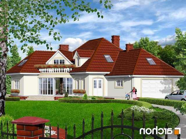 Dom ( rezydencja )  wolnostojący w trakcie budowy ( aktualnie wybudowano parter ze stropem terriva) według projektu ...